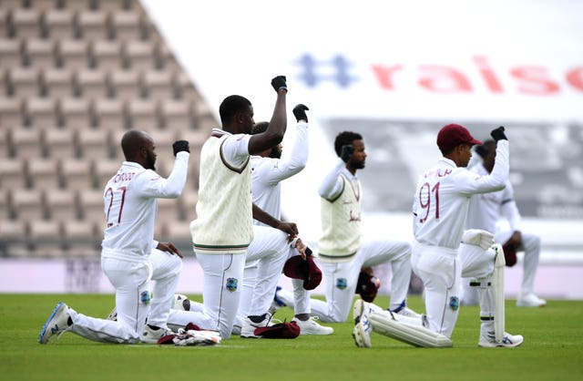 The West Indies and England took a knee together earlier this summer.