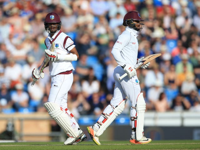 There will be more responsibility on Hope, right, and Kraigg Brathwaite against England (Nigel French/PA)