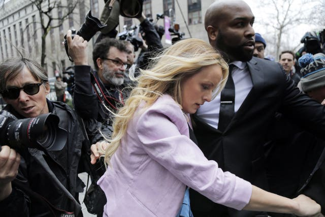 Stormy Daniels arrives at federal court in New York (Seth Wenig/AP)