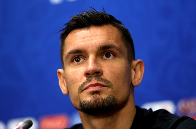 Dejan Lovren during the press conference at the Luzhniki Stadium