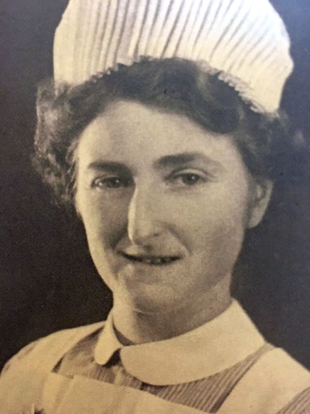 Rosemary Powell in her nurses's uniform during the Second World War (Royal British Legion/PA)