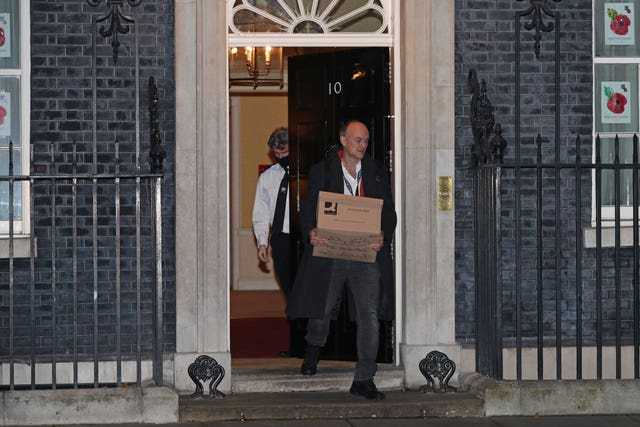 Dominic Cummings left Downing Street in the fall following a power struggle
