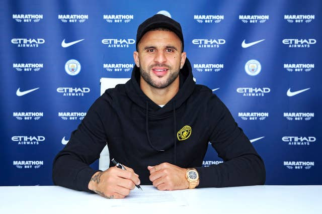 Kyle Walker joined City from Tottenham