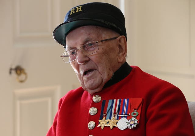 Chelsea Pensioner Bill Fitzgerald was 18 during the D-Day landings