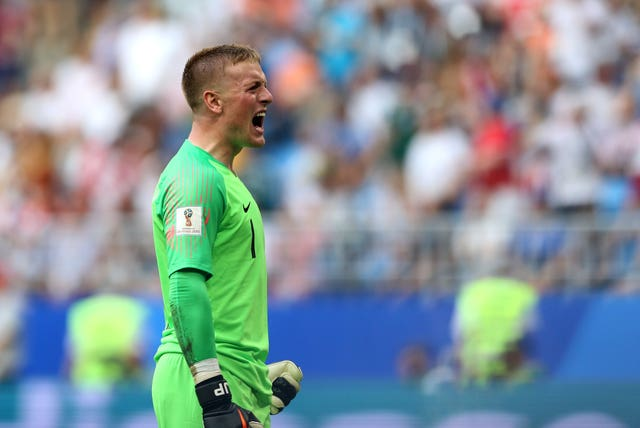 Jordan Pickford was England's first-choice goalkeeper throughout the 2018 World Cup.