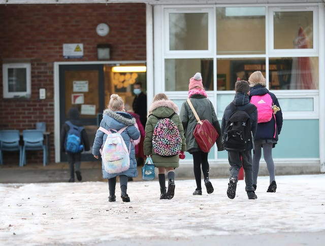 Schools will reopen first, with March 8 having been given as the earliest date (Martin Rickett/PA)