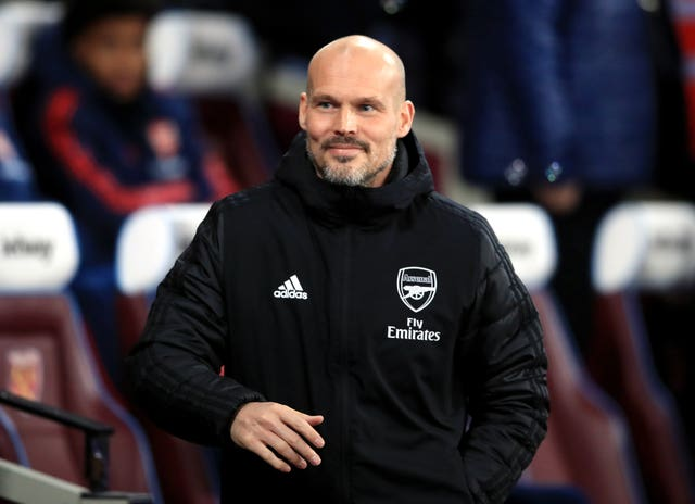 Arseal interim manager Freddie Ljungberg secured his first win in the role at West Ham on Monday