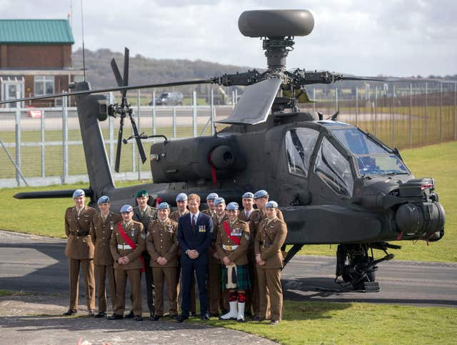 Prince Harry visit to Army Aviation Centre