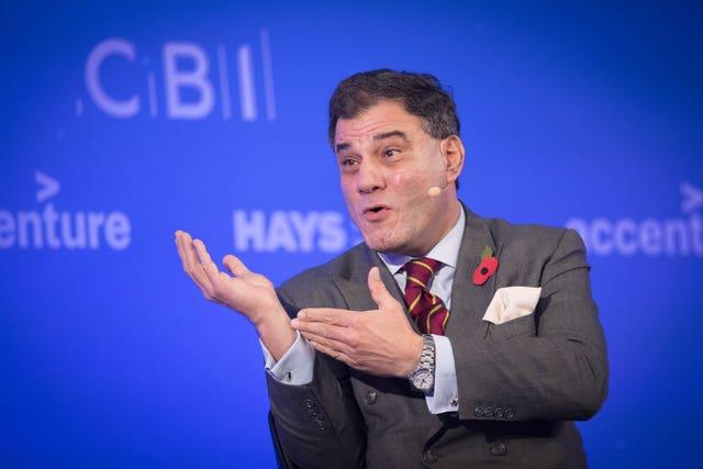 President of the CBI, Lord Karan Bilimoria