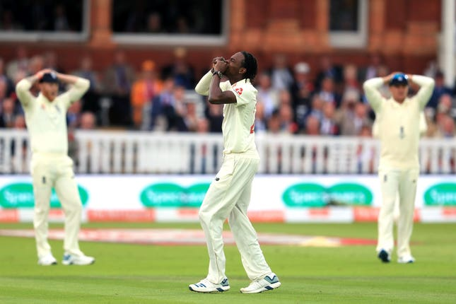 Jofra Archer was wicketless in a dangerous spell before stumps