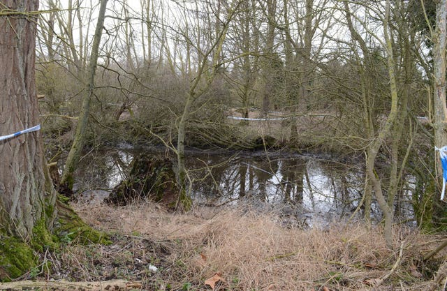 The site where the body of William Taylor was found (Hertfordshire Police/PA)