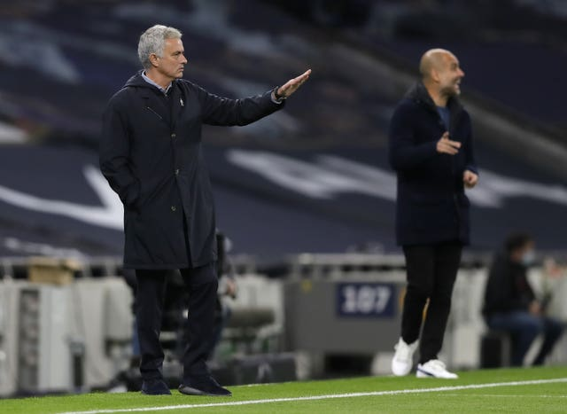 Former Manchester United boss Jose Mourinho led Spurs to a win against rivals City