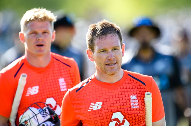 Eoin Morgan, right, saw England over the line