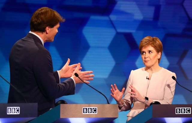 Richard Tice and Nicola Sturgeon clashed during the BBC's seven-way election debate in Cardiff