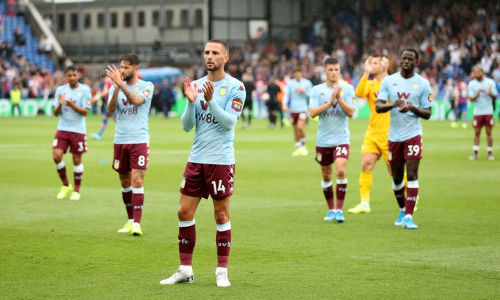 Conor Hourihane (centre) is relishing his Premier League return