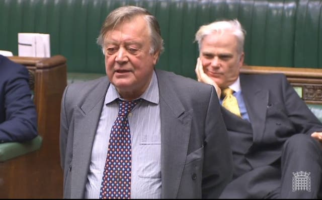 Ex-chancellor Ken Clarke delivered mocking comments to the Foreign Secretary (PA)