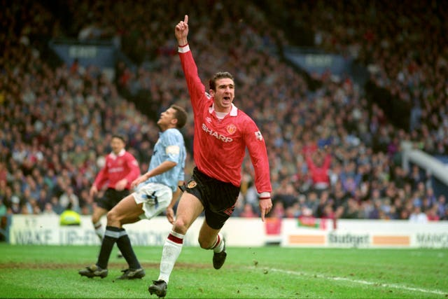 Eric Cantona enjoyed the Manchester derby in the 1990s