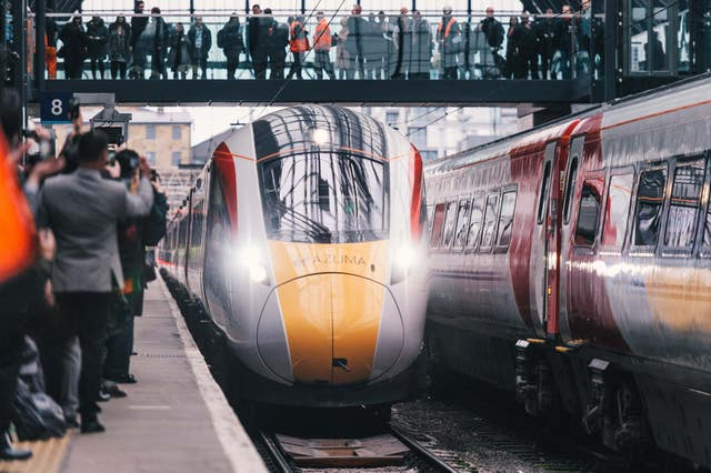 New faster Virgin trains