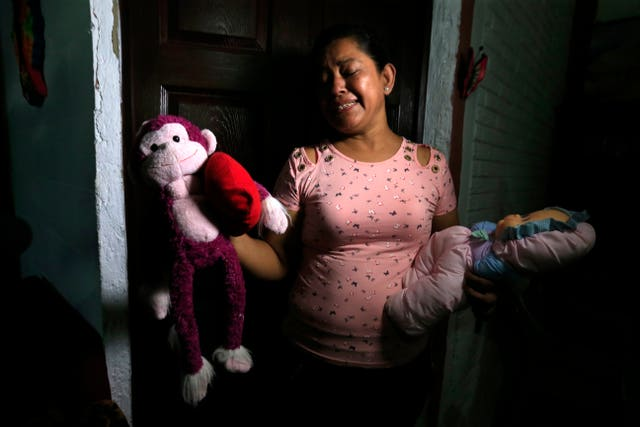 Ms Ramirez showed journalists toys that belonged to her nearly two-year-old granddaughter Valeria