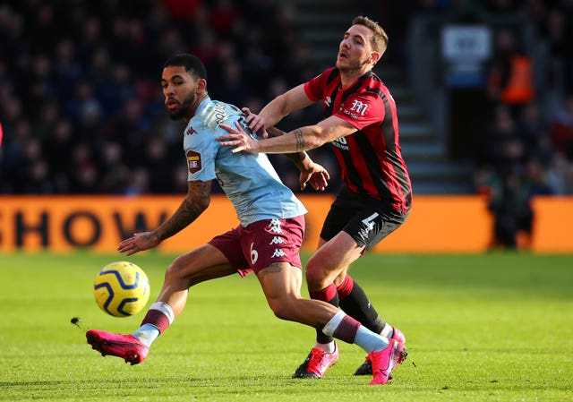 Dan Gosling, right, has made 14 appearances in all competitions for Bournemouth this season