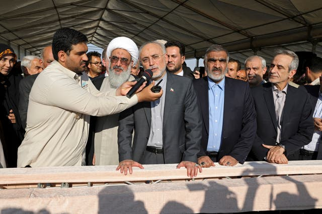 Ali Akbar Salehi at the Bushehr plant