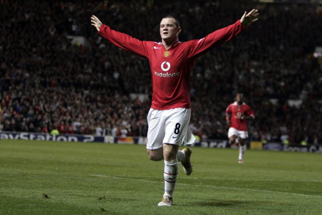 Rooney made a stunning debut for United with a hat-trick against Fenerbahce