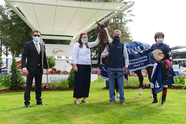 Champers Elysees and winning connections after her Matron success