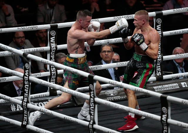 Taylor (left) defeated Ivan Baranchyk (right) to claim the IBF world super-lightweight title last time out