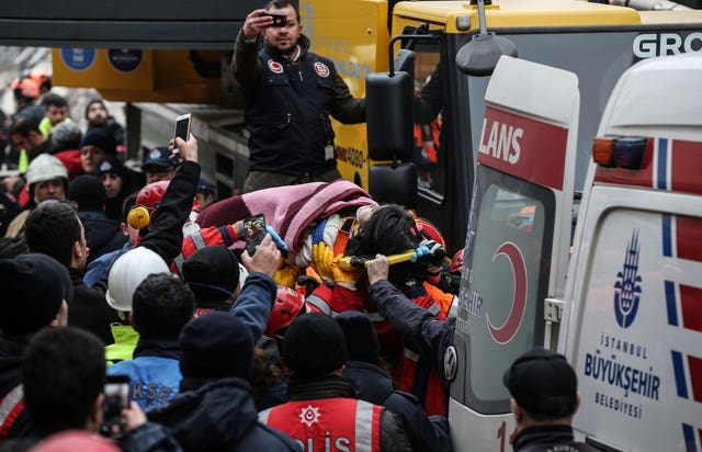 A five-year-old girl was pulled from the rubble on Thursday