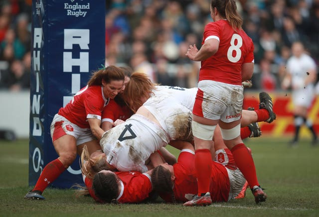 Second row Poppy Cleall scored a hat-trick of tries in England's 66-7 rout of Wales at Twickenham Stoop