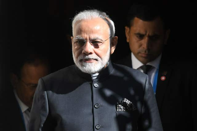 Indian prime minister Narendra Modi (Victoria Jones/PA)