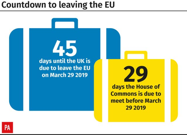 Countdown to leaving the EU.