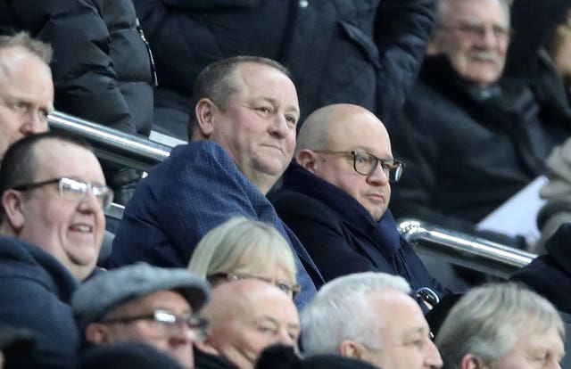 Mike Ashley was in attendance at St James' Park