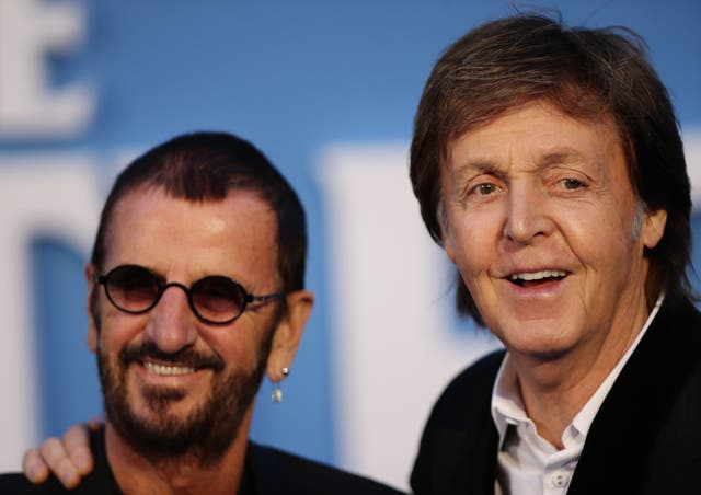 Sir Paul McCartney (right) and Sir Ringo Starr