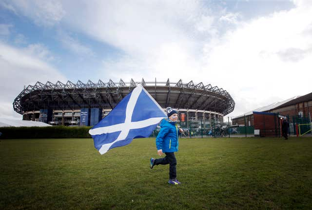 Murrayfield is set in open grounds
