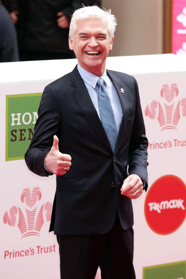 Phillip Schofield was in good spirits on the red carpet (Yui Mok/PA)