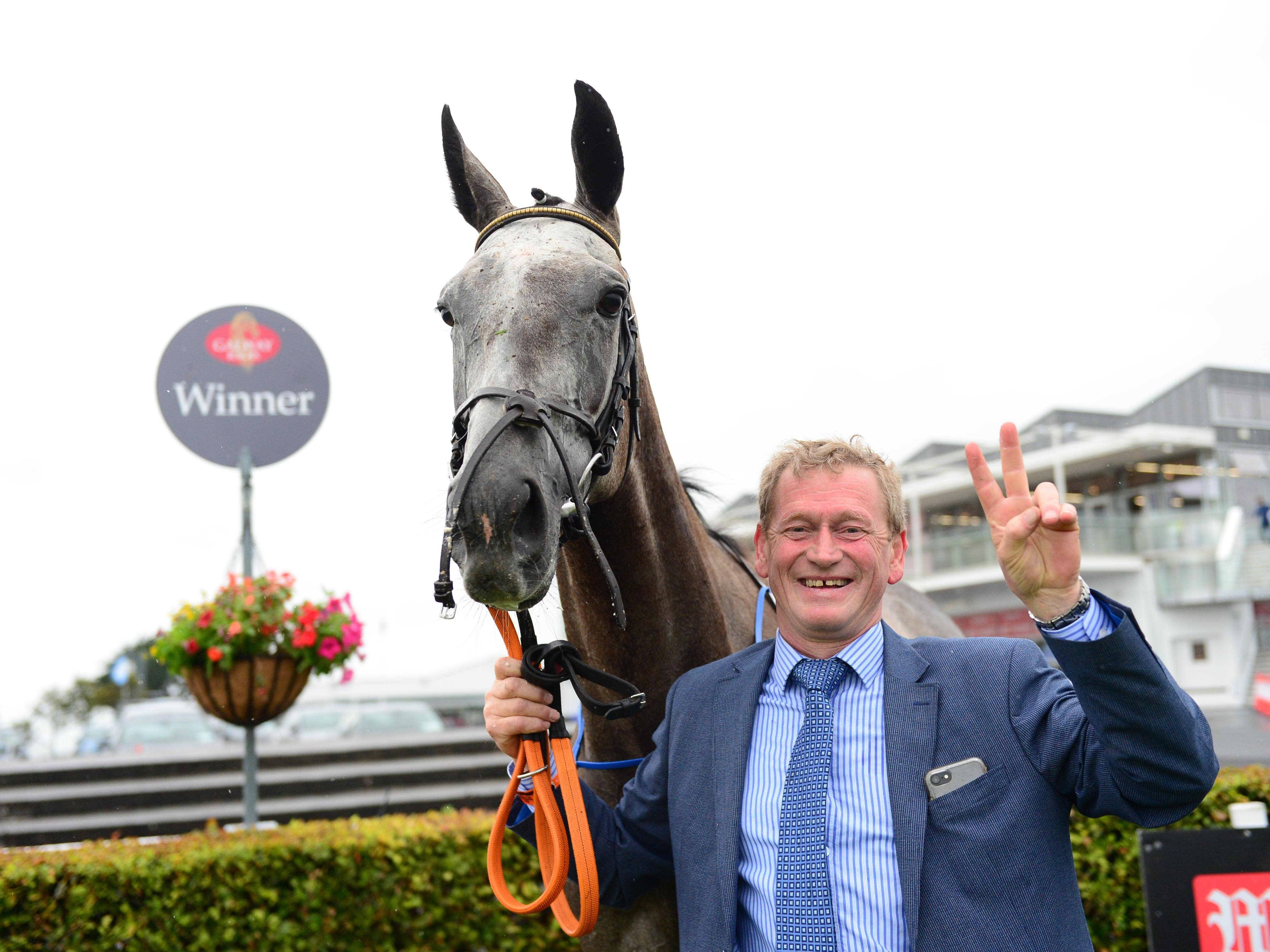 Trainer Tony Mullins with his star mare Princess Zoe (PA)