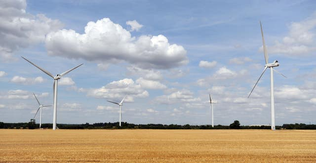 Almost three-quarters of people support onshore wind, compared to just 16% backing for fracking, polling shows (Nick Ansell/PA)