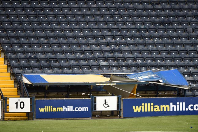 The disabled enclosure roof collapsed