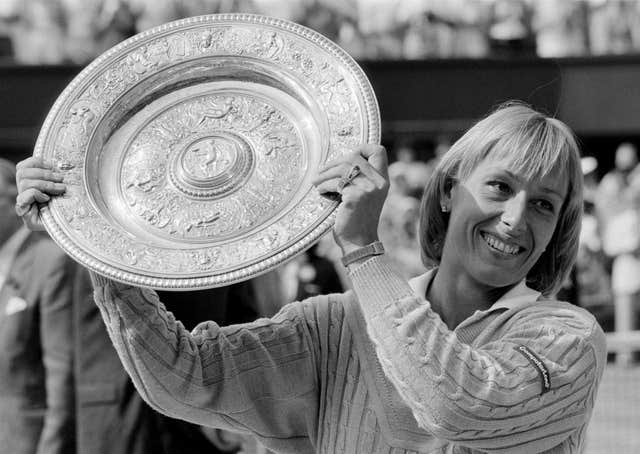 Martina Navratilova enjoyed huge success at Wimbledon during her career