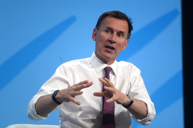 Conservative Party leadership candidate Jeremy Hunt