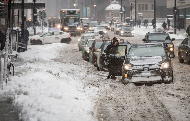 The weather has made for treacherous conditions across the Midwest (AP)