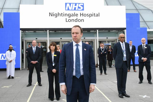 The opening of the NHS Nightingale Hospital at the ExCel centre in London on Friday