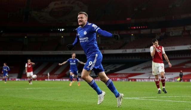 Jamie Vardy grabbed yet another goal against Arsenal.