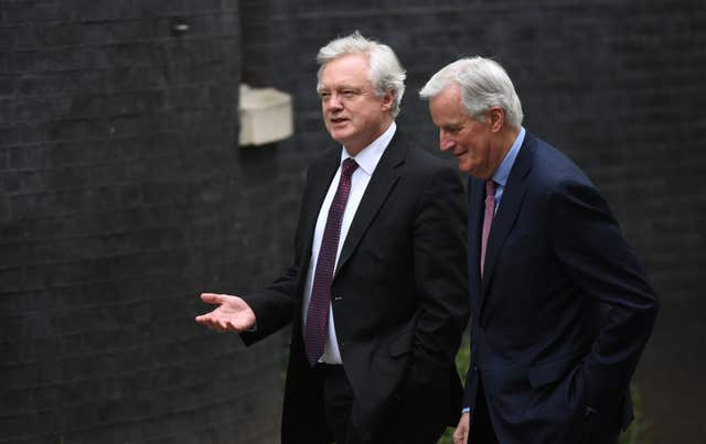 The draft agreement on withdrawal and transition was reached by Mr Barnier and Brexit Secretary David Davis earlier this week (Stefan Rousseau/PA)