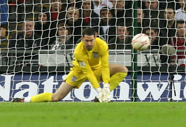 Scott Carson was the England goalkeeper left red-faced in the 3-2 loss as he allowed Niko Kranjcar's soft shot to beat him.