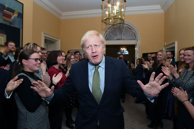 Boris Johnson in Downing Street