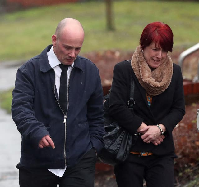 Tracy Lewis and Tony Benton, the sister and twin brother of Sean Benton (Steve Parsons/PA)