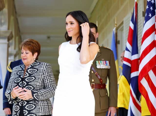 The Duchess of Sussex arrives at Admiralty House in Sydney
