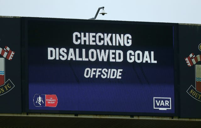 Tottenham had a goal disallowed by VAR at Southampton